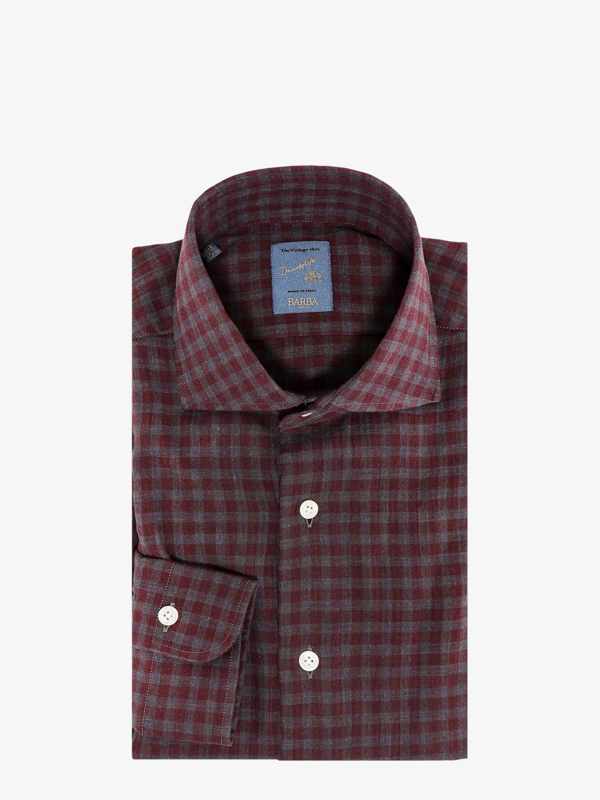 Barba Cottn Shirt In Red