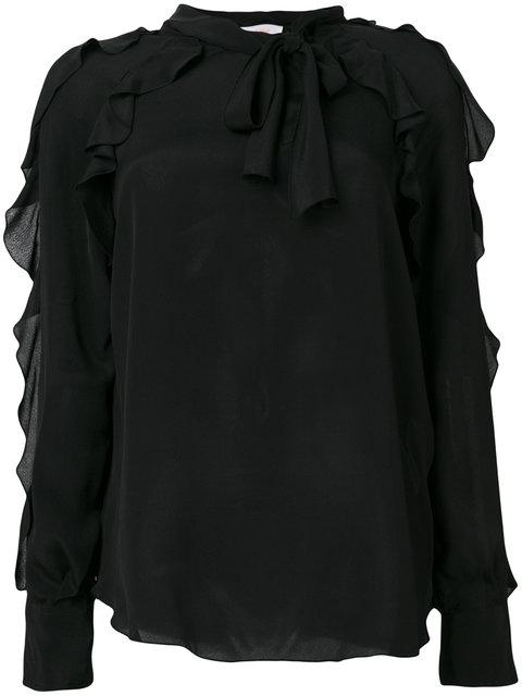 See By ChloÉ Ruffled Pussy Bow Blouse