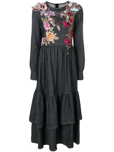 Antonio Marras Flower, Butterfly And Bird Embroidered Dress