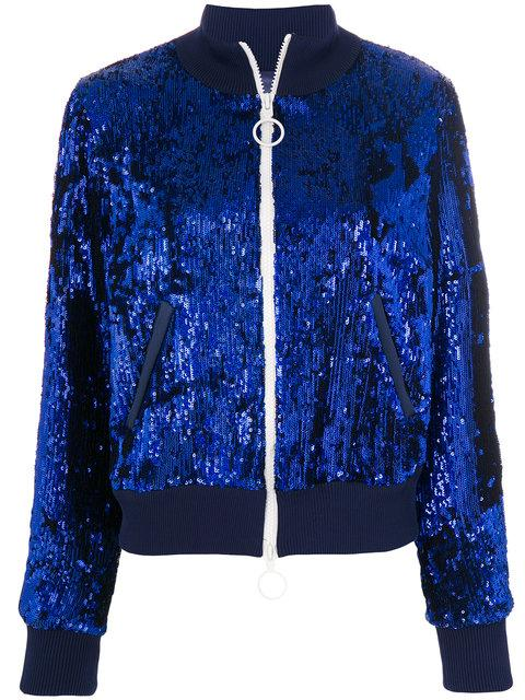 Off-white Sequin Jacket In Blue