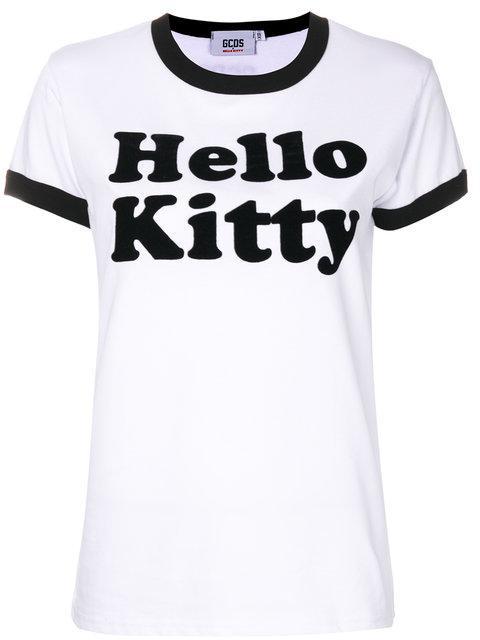 Gcds Hello Kitty Cotton T-shirt In White