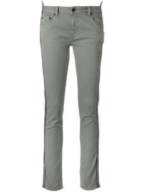Off-white Diag Strap Skinny Jeans