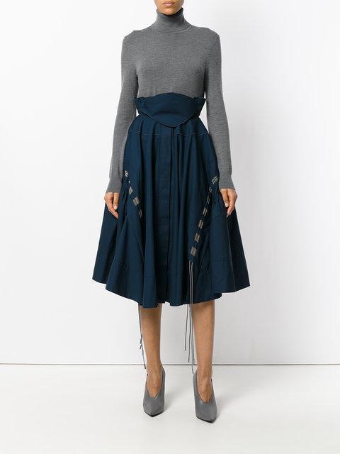 Antonio Berardi Pleated Skirt In Blue