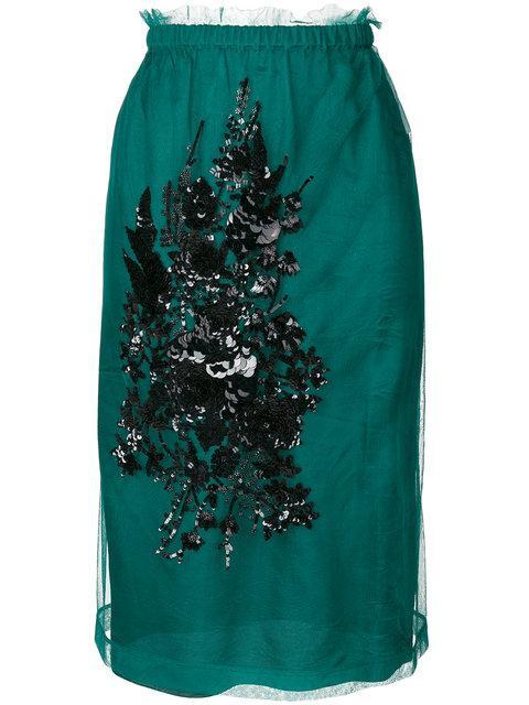 N°21 Embellished Midi Skirt