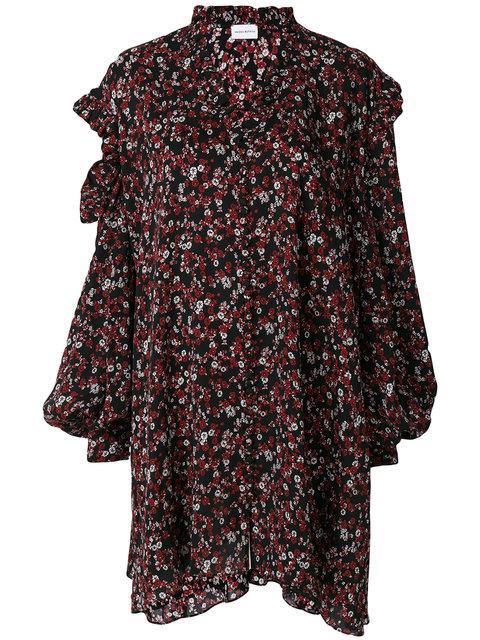 Magda Butrym Amman Silk Dress In Rosso