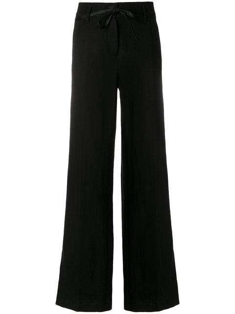 Ann Demeulemeester High Waisted Wide Trousers In Black