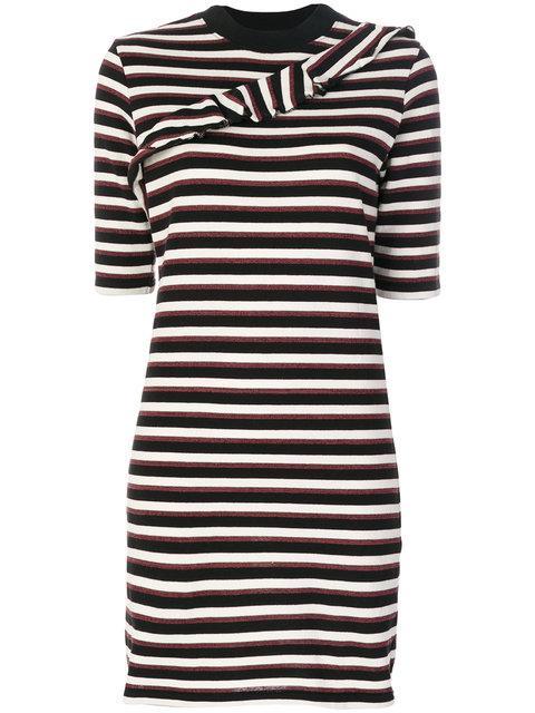 Maison KitsunÉ Striped Fitted Dress