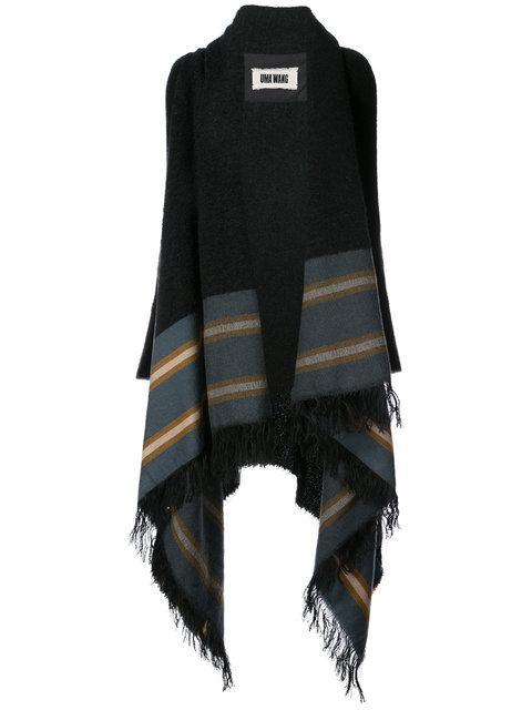 Uma Wang Blanket Poncho