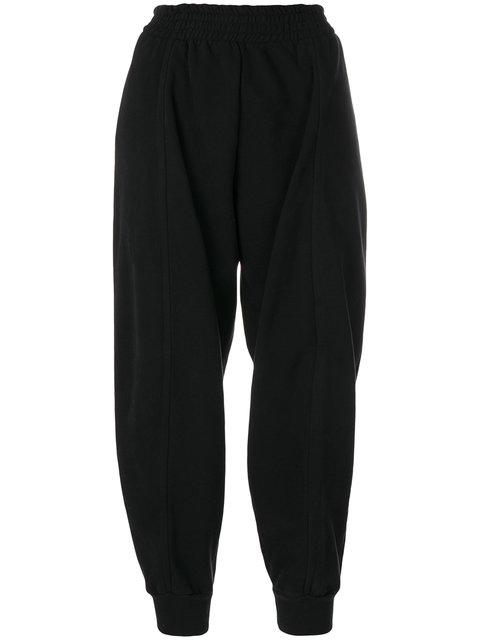 Mm6 Maison Margiela Balloon Cropped Trousers - Black