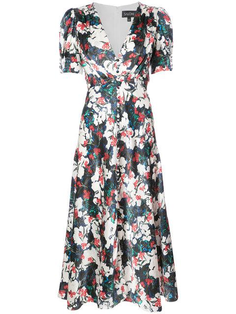 Saloni Floral Embroidered Dress