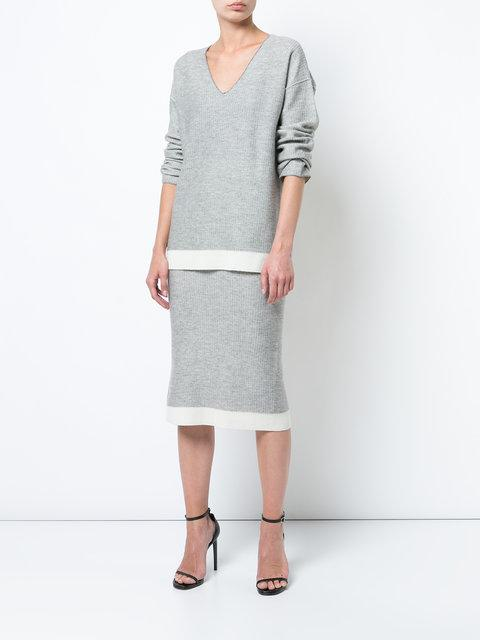 Atm Anthony Thomas Melillo Fitted Ribbed Skirt