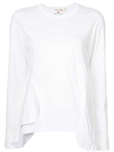 Comme Des GarÇons Long Sleeved Top - White