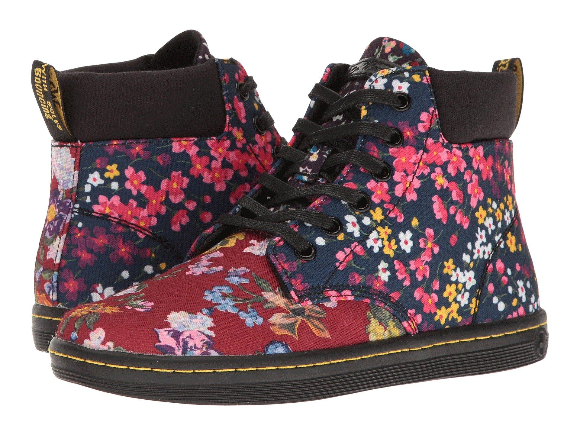 Dr. Martens Maelly Fc In Multi Floral Mix T Canvas