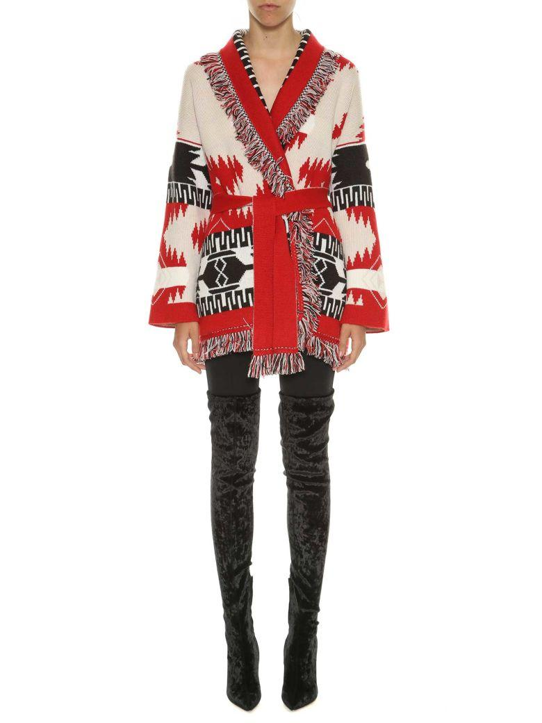 Alanui Icon Fringed Jacquard-knit Cashmere Cardigan In Multicolored