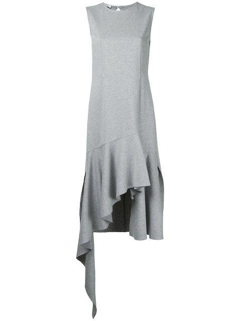 Goen J Open Back Asymmetric Ruffled Jersey Dress