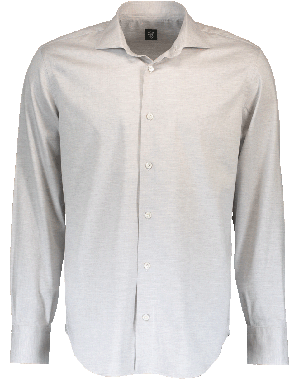Eleventy Tonal Chevron Shirt In Grey
