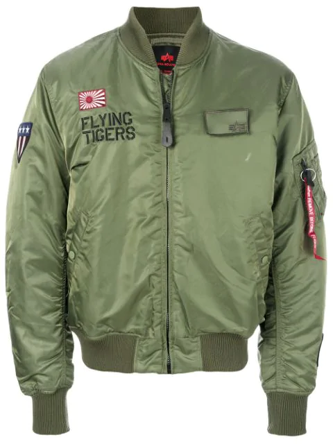 982eed2bd Ma-1 Flying Tigers Shell Bomber Jacket in Green
