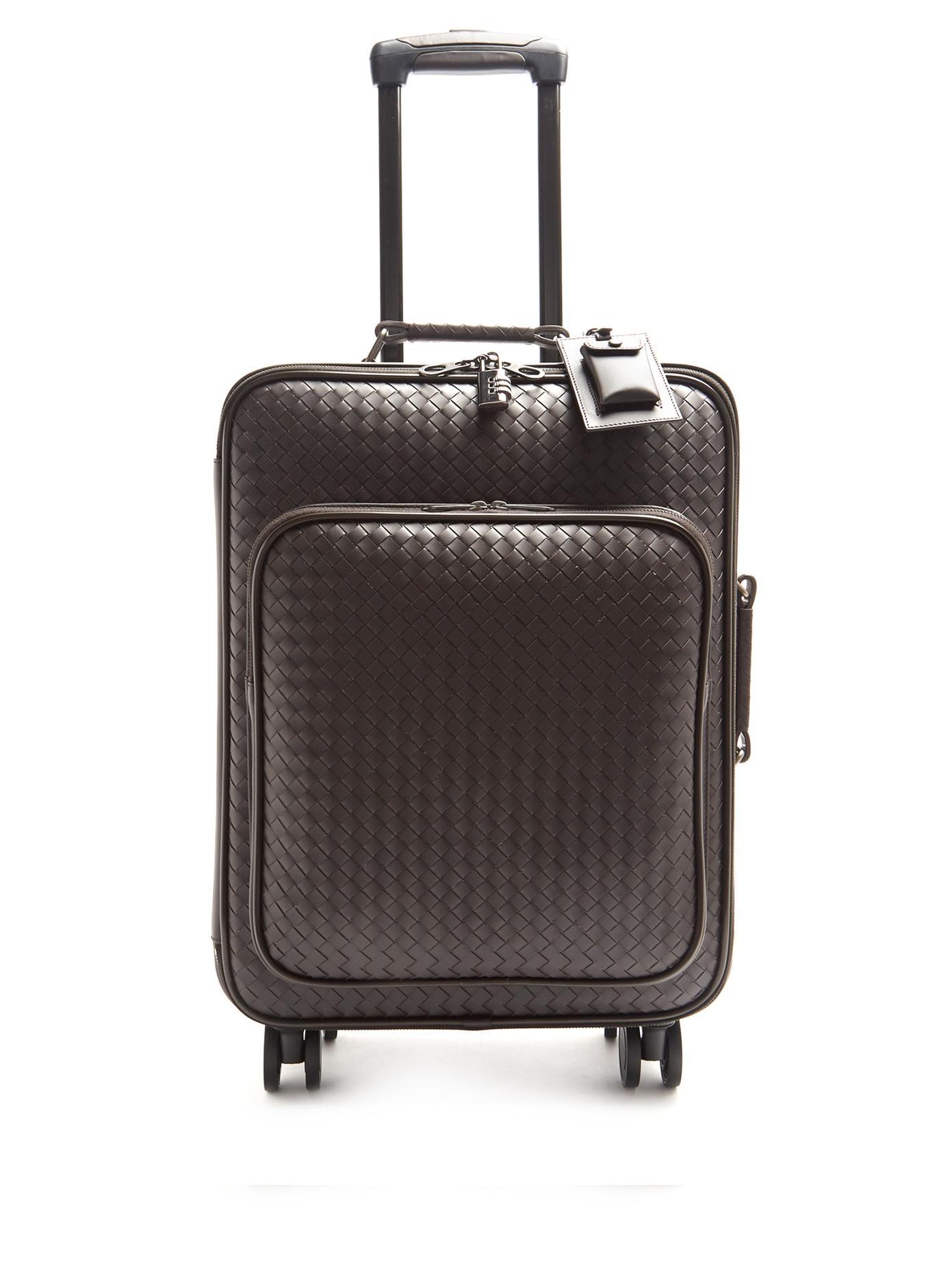 dd6c3446aa Bottega Veneta Intrecciato Leather Suitcase In Black