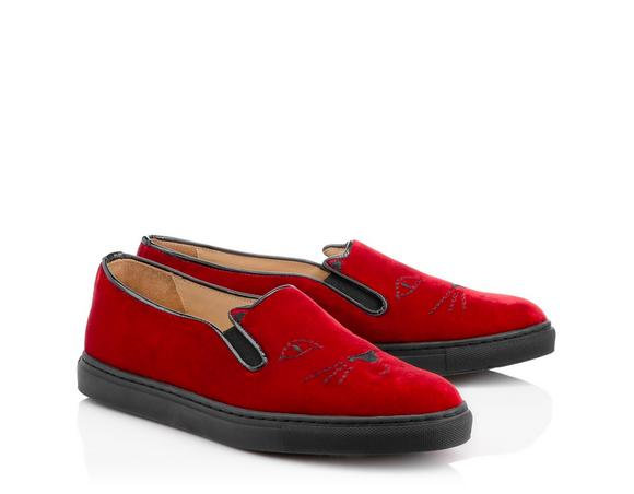 Charlotte Olympia Men's Cool Cats In Red