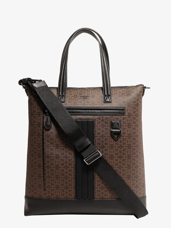 Bally Tpu Handbag In Brown