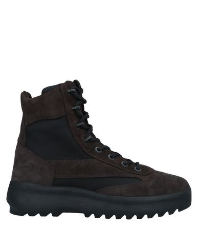 175314e26 Yeezy Suede   Nylon Military Boots - Dk. Brown In Black