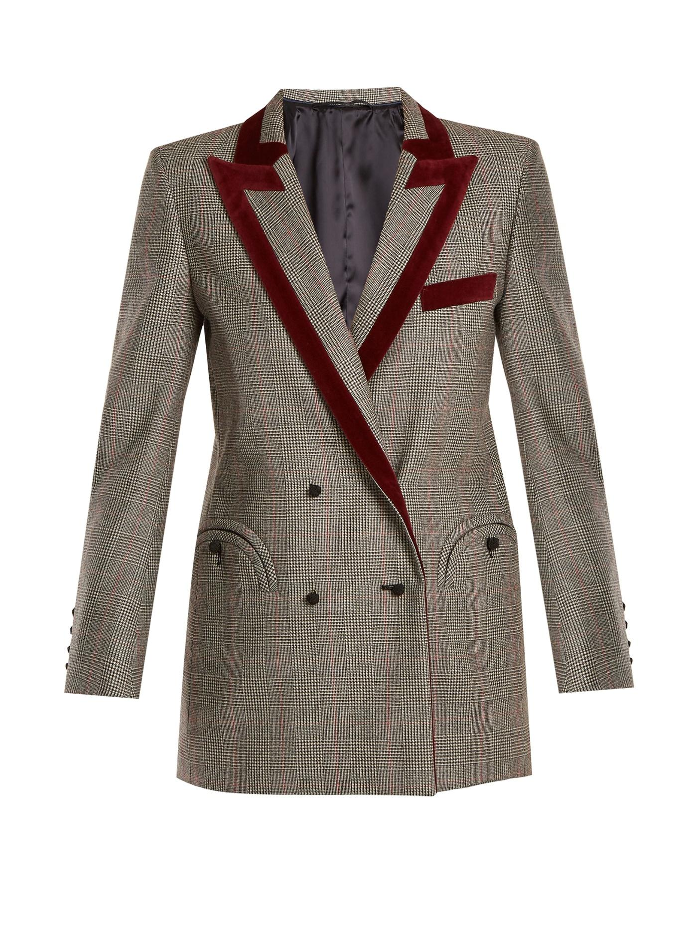 BlazÉ Milano High Kingdom Everyday Checked Wool Blazer In Black White