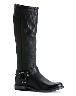 Frye Phillip Harness Tall Boots In Black