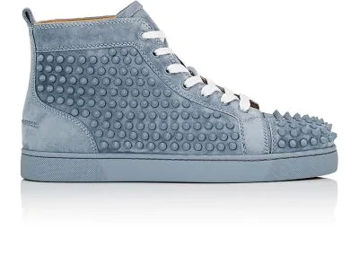 6a446f961499 Christian Louboutin Louis Flat Suede Sneakers - Gray