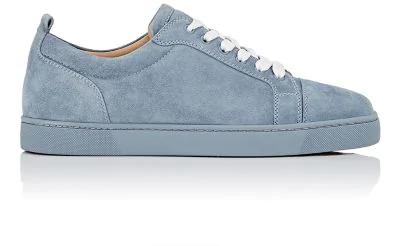 39e849837e63 Christian Louboutin Louis Junior Flat Suede Sneakers - Gray