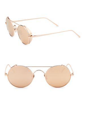 8ece79fca78d Linda Farrow 427 C3 51Mm Aviator-Style Sunglasses In Gold