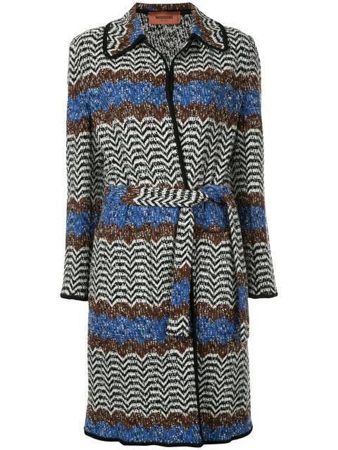 Missoni Wool-Blend BouclÉ Cardigan In Blue