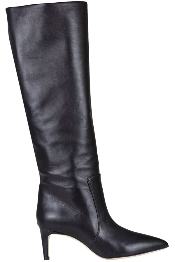 Paris Texas Leather Boots In Black