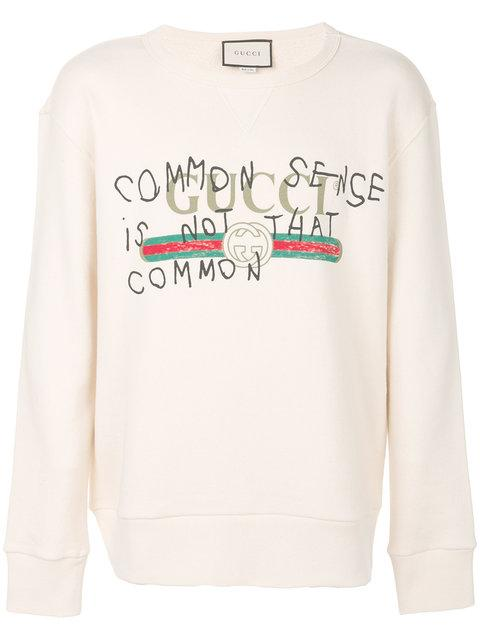aae864e392b Gucci Common Sense Is Not That Common Sweatshirt In White