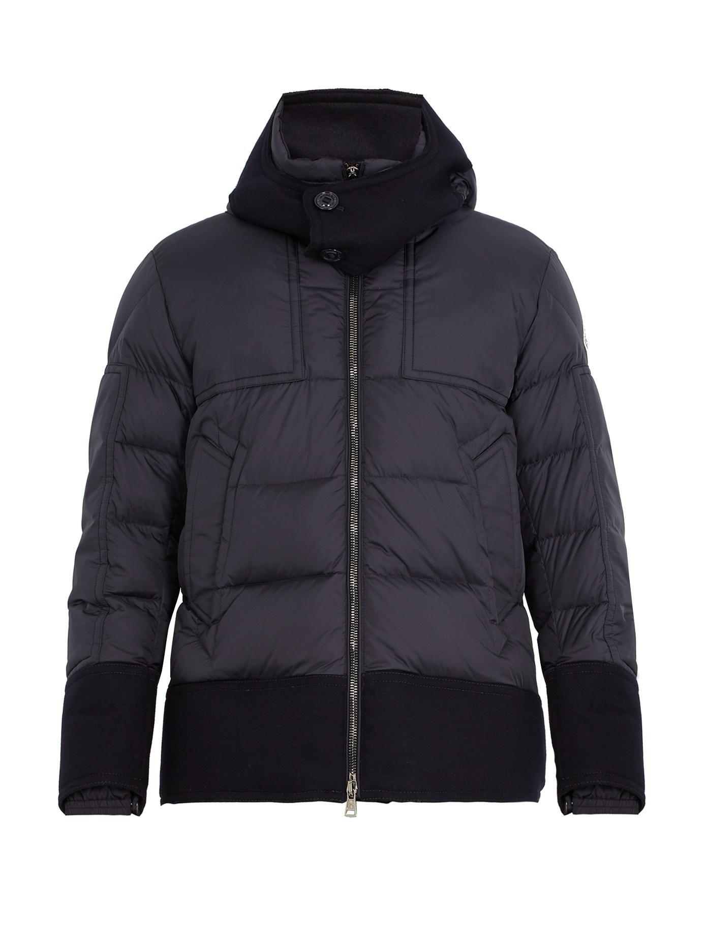 143105dd9 Dominique Contrast-Trim Quilted Down Jacket in Navy