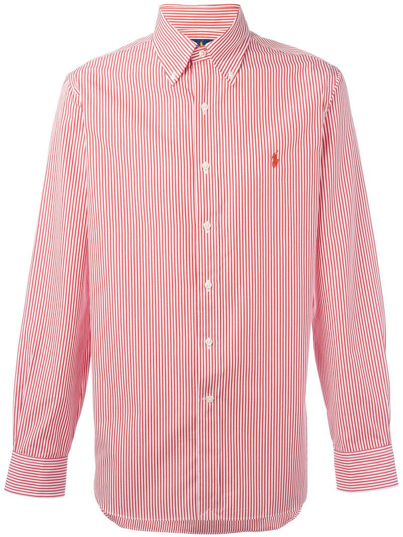 d649d1fb89 Polo Ralph Lauren Button-Down Striped Shirt - White | ModeSens