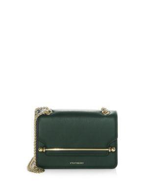 a4169c99d1 Strathberry Mini East West Crossbody Bag In Bottle Green