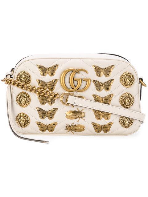 21704de7b3d Gucci Marmont MatelassÉ Leather Cross-Body Bag In White