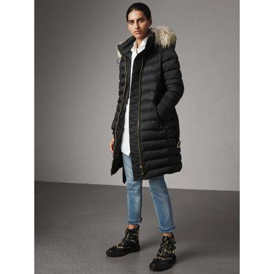 8afa1d0e8cef Burberry Detachable Fur Trim Down-Filled Puffer Coat With Hood In ...