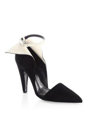 5802338423fc Calvin Klein 205W39Nyc Kaiya Winged Suede Ankle-Strap Pumps In Black ...