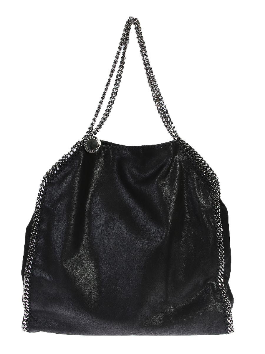 Stella Mccartney Faux Leather Falabella Large Bag In Black