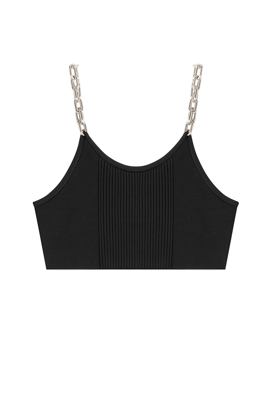 Alexander Wang Cropped Top With Chain-link Straps