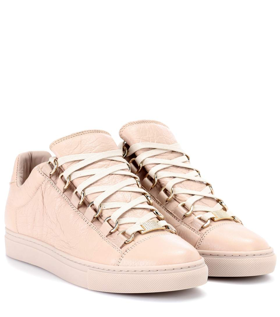 901dc0ebe282 Balenciaga Arena Leather Sneakers In Beige