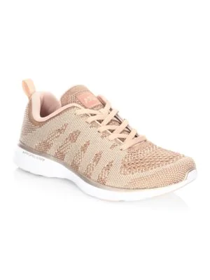 ba9bb4cc0b53 APL ATHLETIC PROPULSION LABS. Athletic Propulsion Labs Women s Techloom Pro  Knit Lace Up Sneakers in Rose Gold