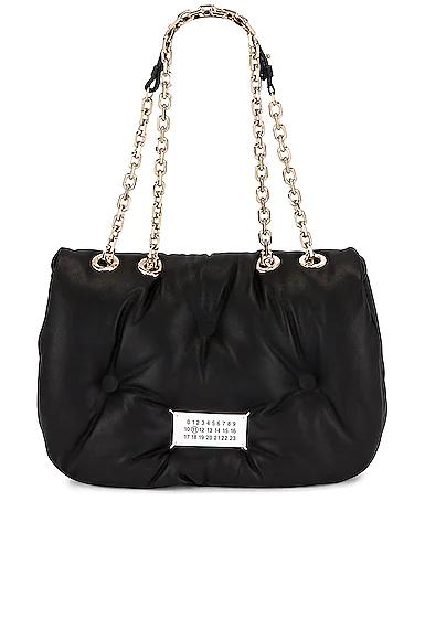 Maison Margiela Glam Slam Flap Shoulder Bag In Black