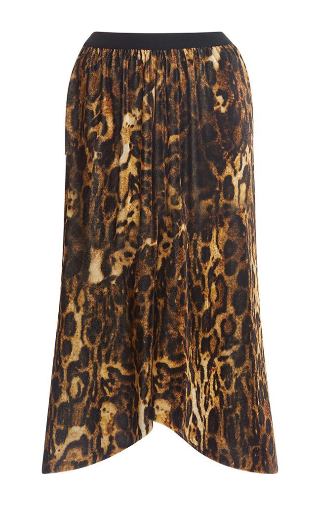 87d653a8b54e Isabel Marant Tursanne Asymmetric Leopard-Print Velvet Skirt In Leopard  Print