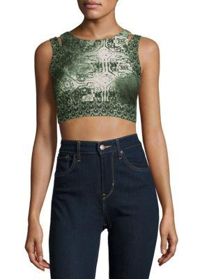 Nanette Lepore Printed Active Tank Top In Monsoon