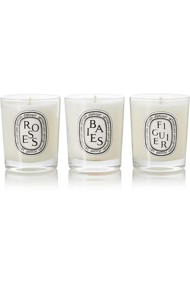 Diptyque Set Of Three Scented Candles, 3 X 70g In Colorless
