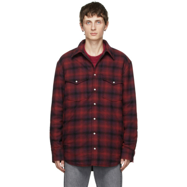 Isabel Marant Red Ruddy Checked Shirt In Red 70rd