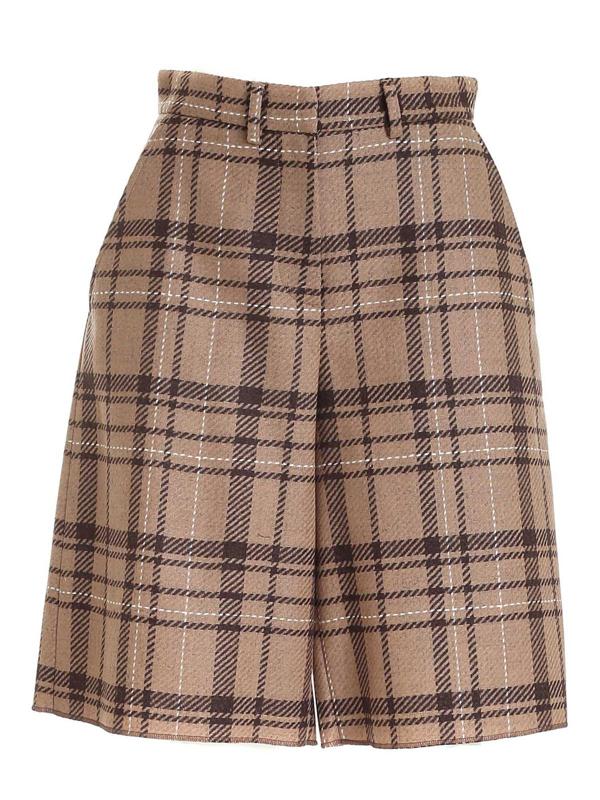 Ballantyne Tartan Shorts In Beige