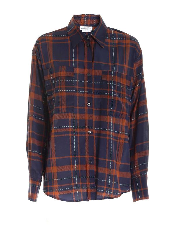 Ballantyne Tartan Shirt In Blue